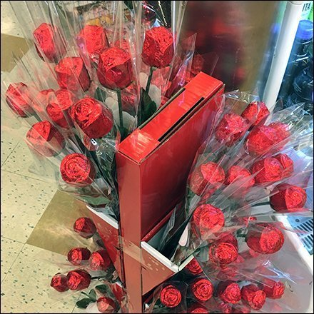 Chocolate Roses Valentines Day Floral Display