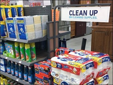 Clean Up Cleaning Supplies Island Display