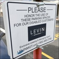 Please Honor Disabled Parking Space Reservations
