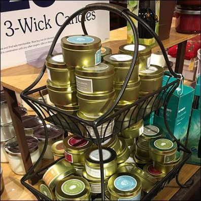 Decorative Wrought Iron 3-Wick Candle Display