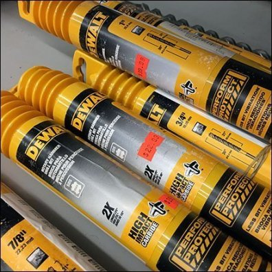 Deep Discount DeWalt Drill Bit Shelf Merchandising Feature