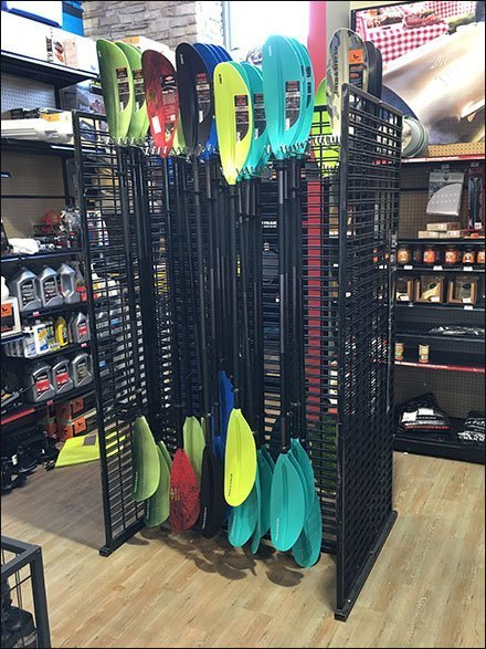 Freestanding Slatwire Kayak Paddle Rack