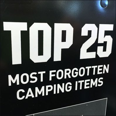 Top 25 Most Forgotten Camping Items