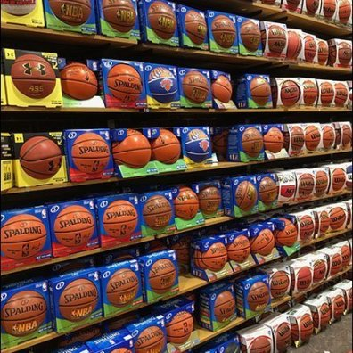 Dick's Wall of Basketballs Mass Merchandising