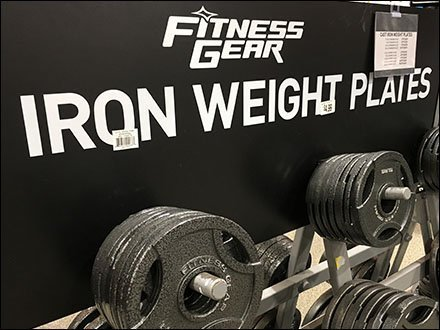 Fitness Gear Weight Plate Angled Rack