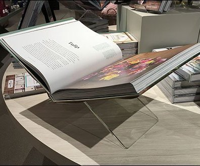 Acrylic Book Stand Table-Top Merchandiser