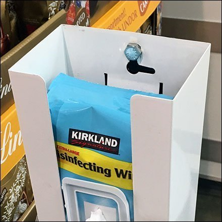 Kirkland Sanitary Wipe Mount CloseUp