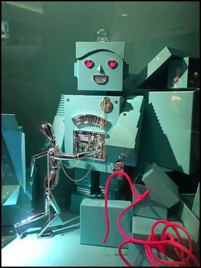 Tiffany Mr. Roboto Wall Niche Merchandising