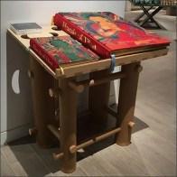 Freestanding Wood Bookstand Table Murals of Tibet