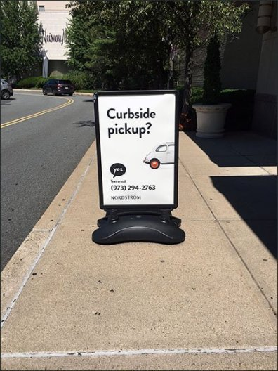 Nordstrom Curbside Pickup Sidewalk Sign