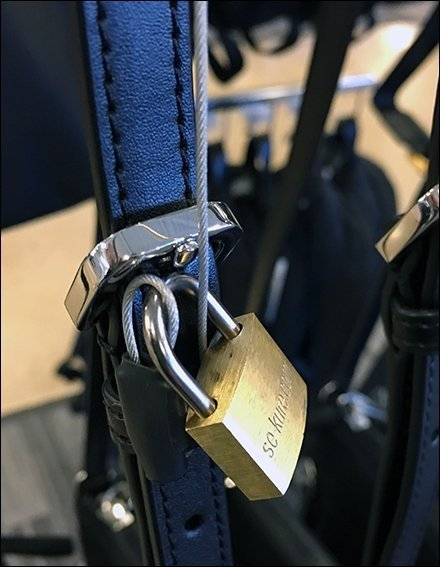 J-Hook Hangrail Purse Security Padlock