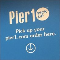 Pier 1 Online Order Pickup Ceiling Signs Feature