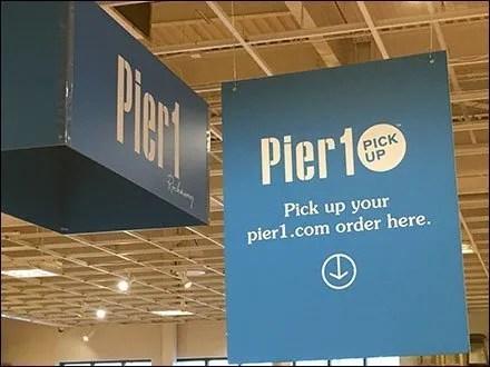 Online Order Pickup Ceiling Signs