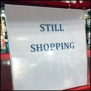 Still Shopping Purchase Parking In-Store Rack