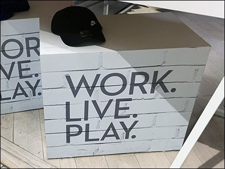 Lord & Taylor Retail Fixtures - White Sawhorse Work Live Play Display