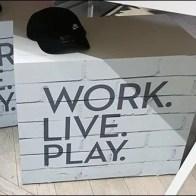 White Sawhorse Work Live Play Display