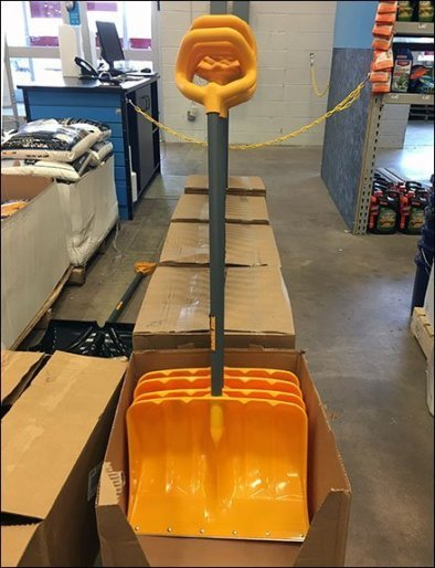 Seasonal Snow Shovel Deployment In-Store