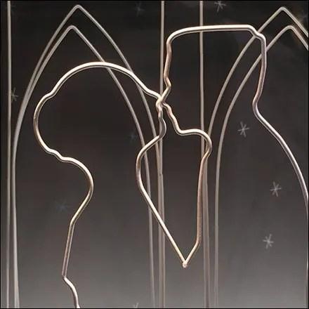 Wireform Figures and Wireform Construction - Wireform Romance Tiffany Niche Window Dressing