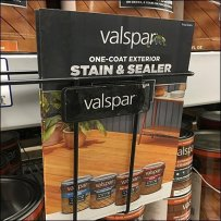 Valspar Stain Shelf Edge Brochure Rack