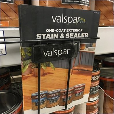 Valspar Stain Shelf Edge Brochure Rack