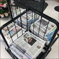 4-Way Newspaper Rack Square1