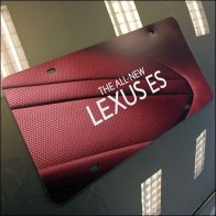 All New Lexus ES Promotional License Plates Feature