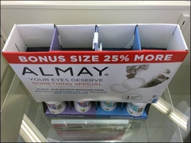 Almay Gravity-Feed Display Table-Top Promo