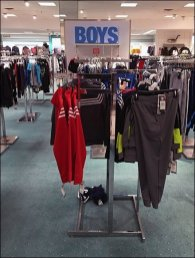 Boys Apparel Department Silhouetted Sign