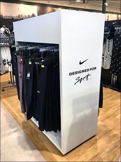 Nike Enclosed Sport Apparel Rack Concept