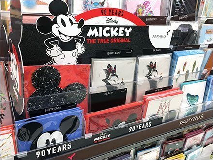 Mickey Mouse Inline Greeting Card Display