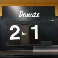Grab-And-Go Donuts 2 for 1 BOGO Sign