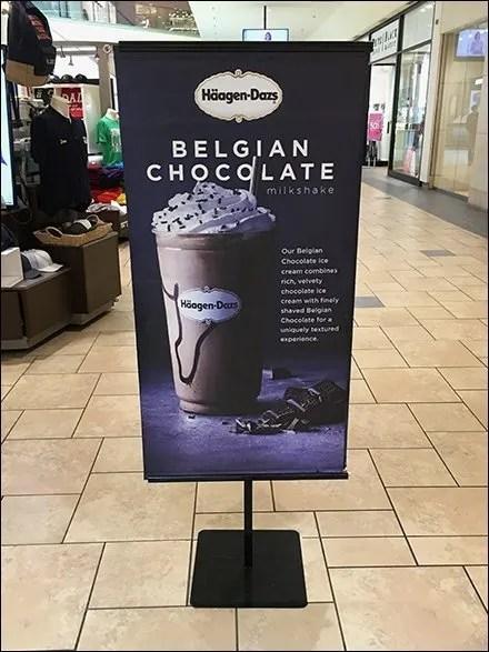 Haagen Dazs Mall Concourse Advertising Banner
