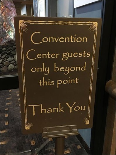 Guests Only Beyond This Point Signage