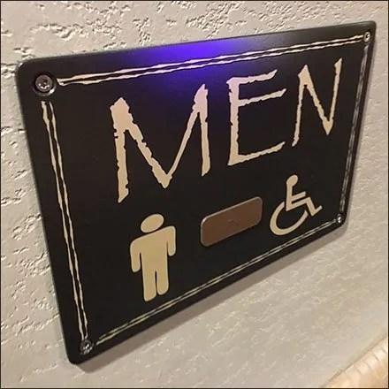 Kalahari Resort Mens Restroom Sign Feature