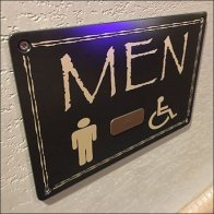 Kalahari Resort Mens Restroom Sign Feature