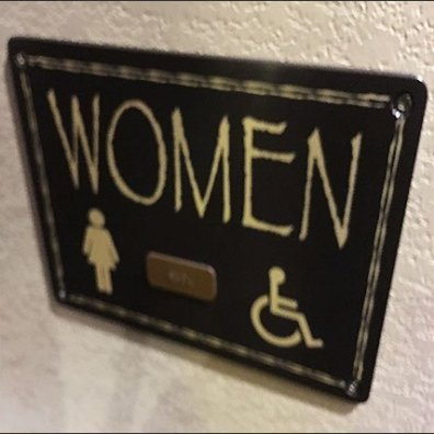 Kalahari Resort Womens Restroom Sign Feature