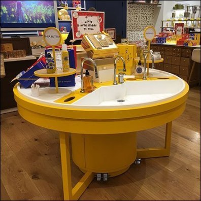 L'Occitane Sink In-Store Outfitting Island