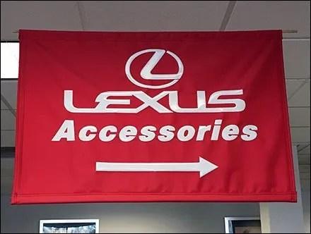 Lexus Automotive Accessories Ceiling Banner
