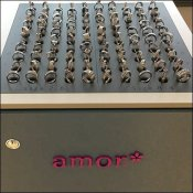 Amor Table-Top Tethered Fashion Ring Tray
