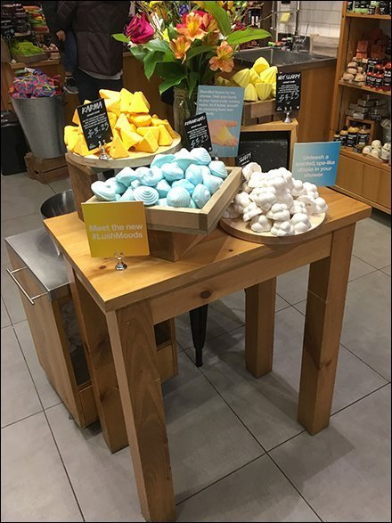 Lush Table-Top Visual Merchandising