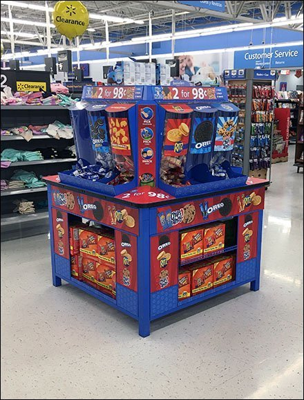 Nabisco Gravity Feed Snack Island Display