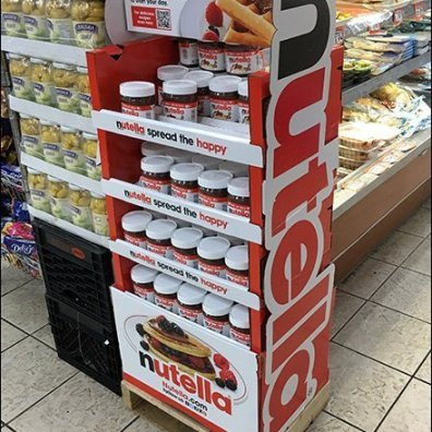 Nutella Freestanding Tower Display 3
