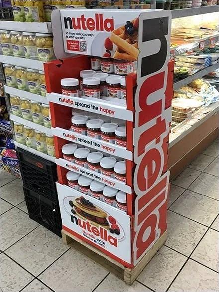 Nutella Freestanding Tower Display 3