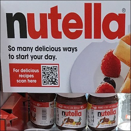 Nutella Freestanding Tower Display With QR