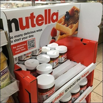 Nutella Freestanding Tower Display Main