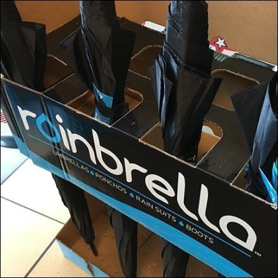 Rainbrella Umbrella Corrugated Display Feature