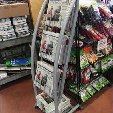 Sickles Curved Newspaper Rack