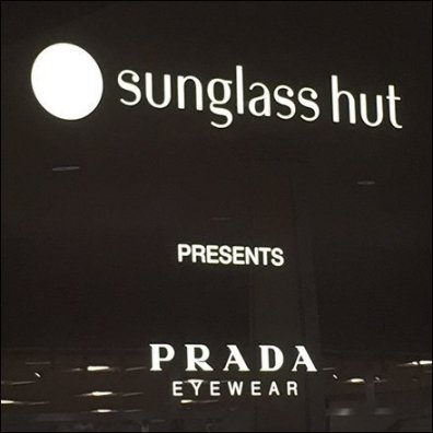 Brand Bragging Sunglass Hut Entry Sign