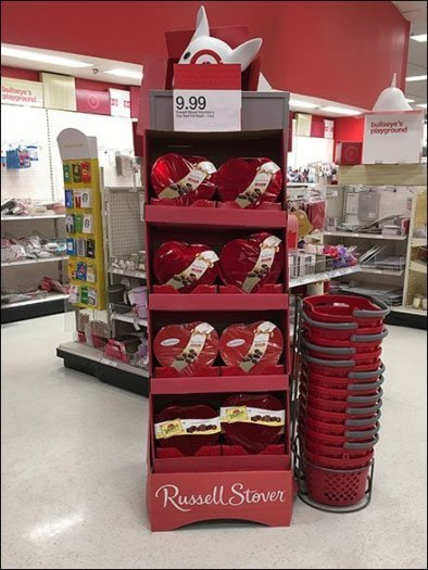 Russell Stover Valentine's Day Display