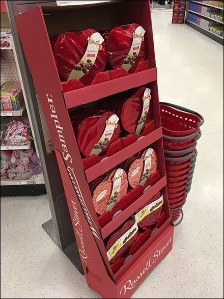 Russell Stover Hearts Valentine's Day Display